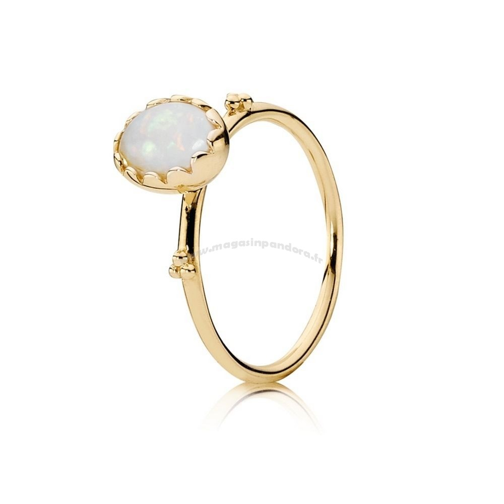 Bijoux Fantaisie PANDORA COLLECTIONS Bague Sweet Sweetness White Opal 14K Or Accessoires