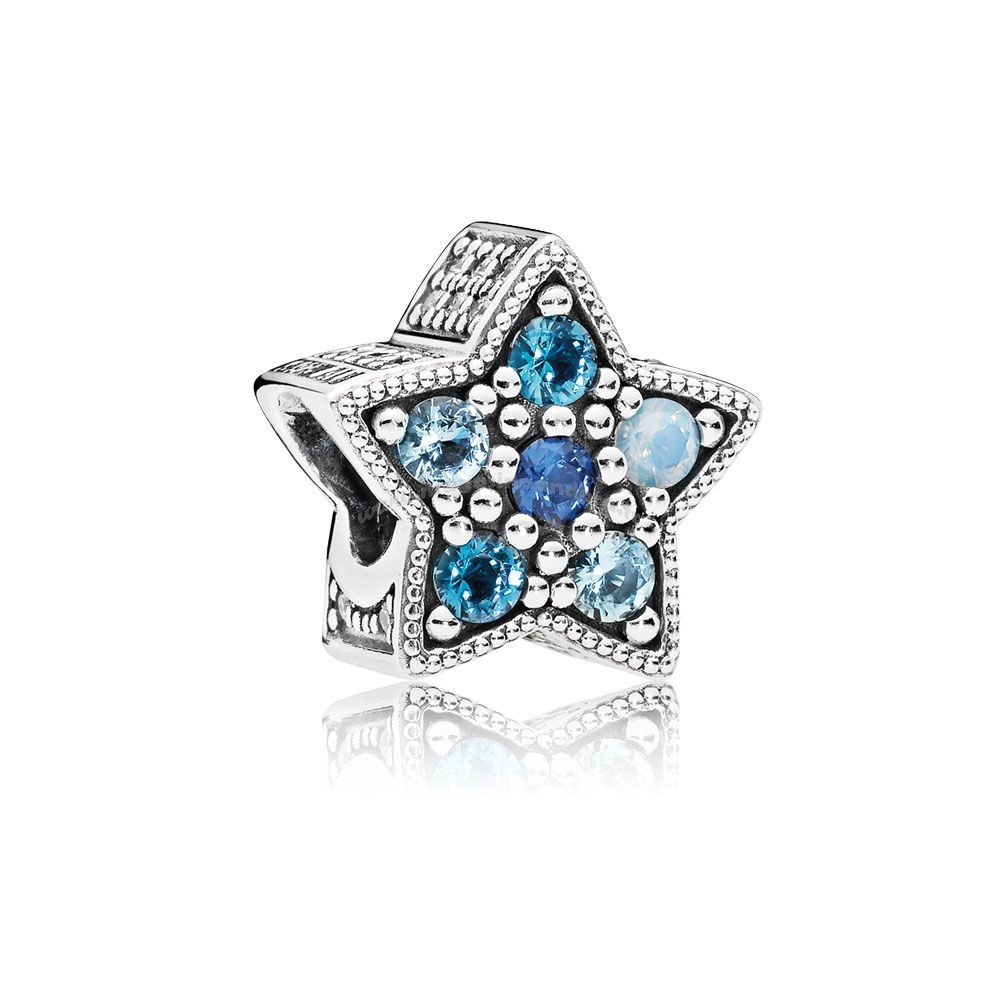 Bijoux Fantaisie PANDORA Collection d'hiver Bright Star Charm Multi Coloured Crystals Accessoires