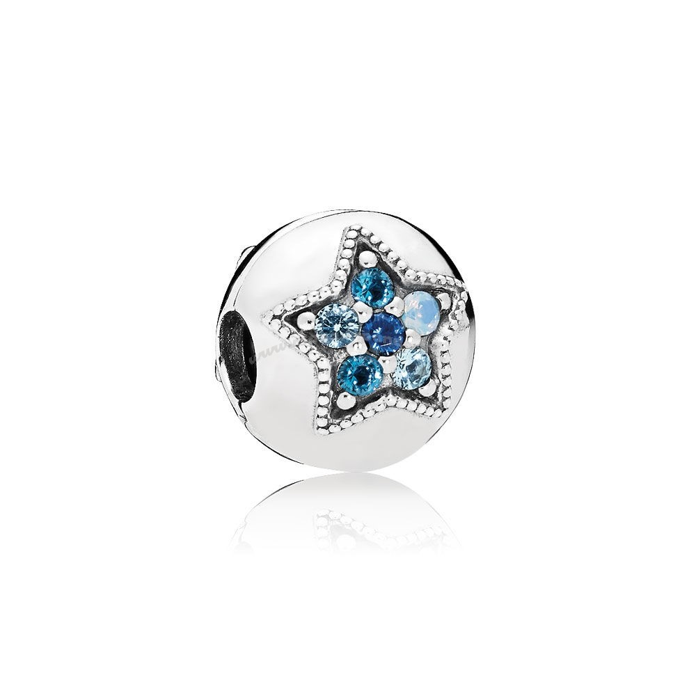 Bijoux Fantaisie PANDORA Collection d'hiver Bright Star Clip Multi Coloured Crystals Accessoires