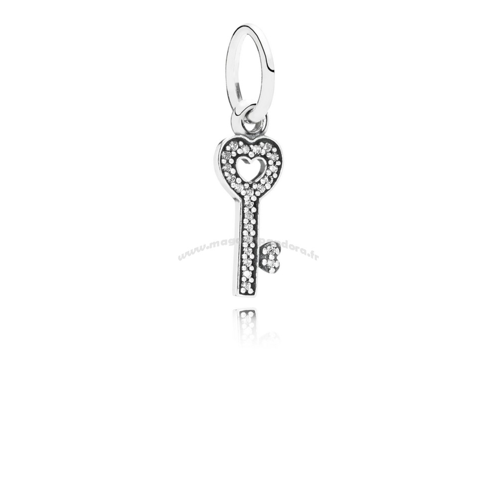 Bijoux Fantaisie PANDORA Dangle Charms symbole de confiance Dangle charme Clear CZ Accessoires