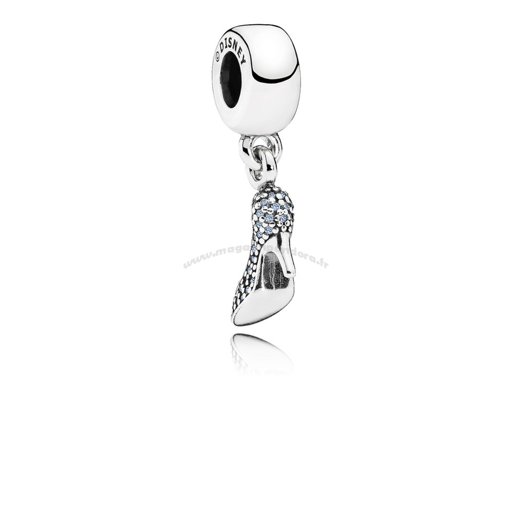 Bijoux Fantaisie PANDORA Disney Charms Cendrillon Mousseux Dangle Charm Fancy Light Blue CZ Accessoires