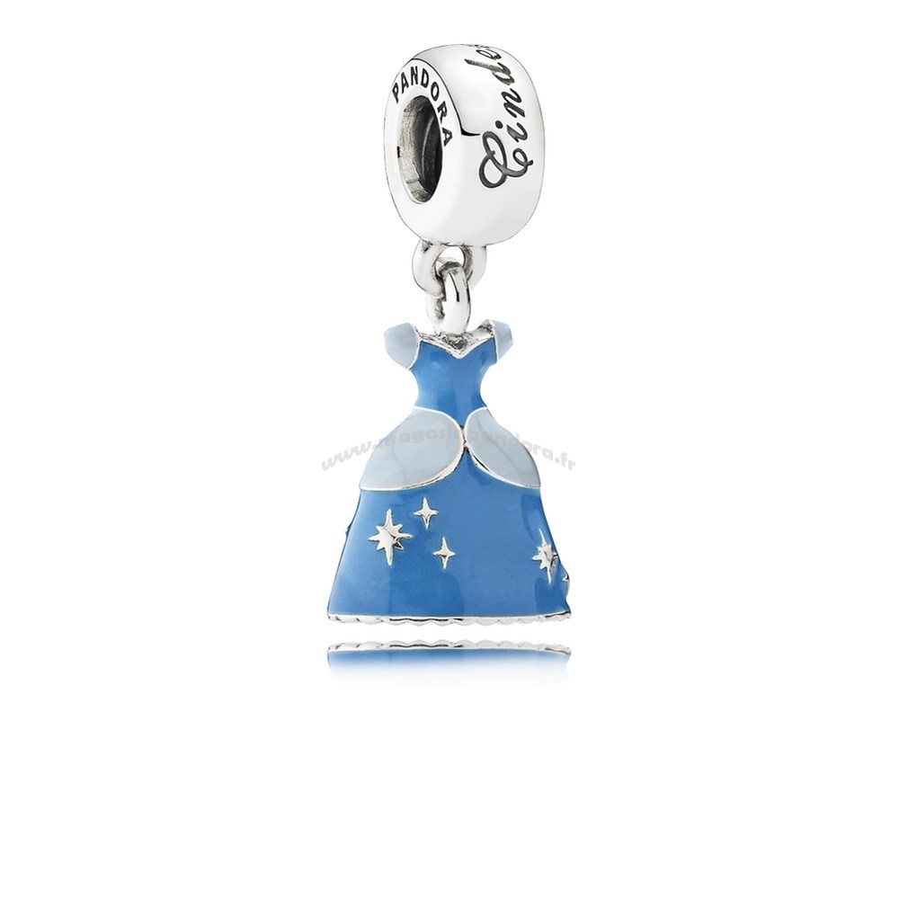 Bijoux Fantaisie PANDORA Disney Charms Cendrillon Robe Dangle Charm Mixed Enamel Accessoires