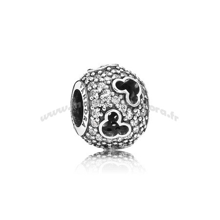 Bijoux Fantaisie PANDORA Disney Charms Mickey Silhouettes Charme Clear CZ Accessoires