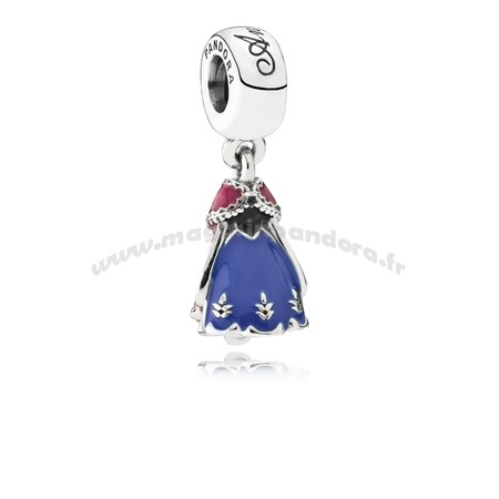 Bijoux Fantaisie PANDORA Disney Charms Robe d'Anna Dangle Charm Mixed Enamel Accessoires