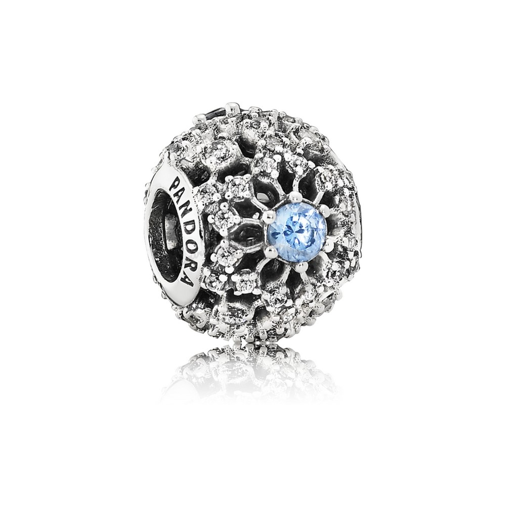 Bijoux Fantaisie PANDORA Disney Collection Disney Cendrillon Wish Charm Frosty Mint CZ Accessoires