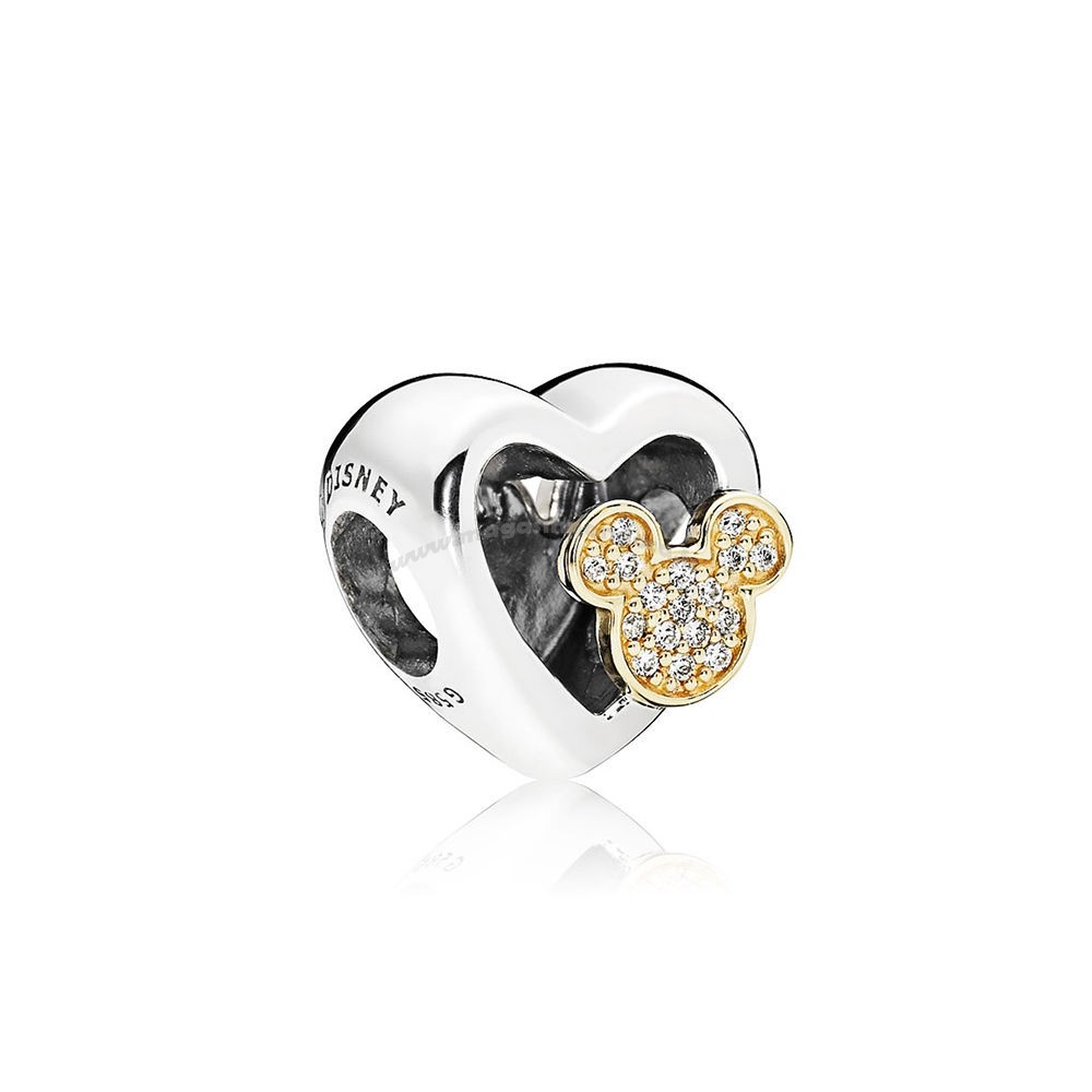 Bijoux Fantaisie PANDORA Disney Collection Disney Mickey Minnie Amour Icones Charme Red Clear CZ Accessoires