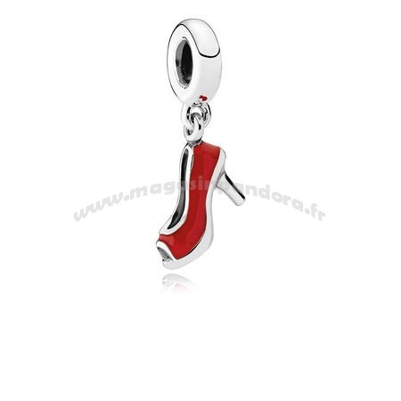 Bijoux Fantaisie PANDORA Passions Charms Chic Breloque Glamour Red Stiletto Red Enamel Accessoires